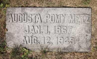 METZ, AUGUSTA POMY - Douglas County, Nebraska   AUGUSTA POMY METZ - Nebraska Gravestone Photos