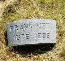 METZ, FRANK - Douglas County, Nebraska   FRANK METZ - Nebraska Gravestone Photos