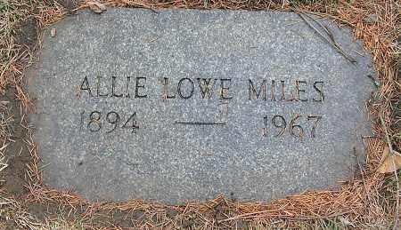 LOWE MILES, ALLIE - Douglas County, Nebraska | ALLIE LOWE MILES - Nebraska Gravestone Photos