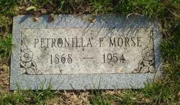 MORSE, PETRONILLA F - Douglas County, Nebraska | PETRONILLA F MORSE - Nebraska Gravestone Photos