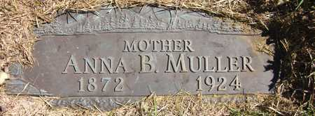 MULLER, ANNA B. - Douglas County, Nebraska | ANNA B. MULLER - Nebraska Gravestone Photos