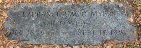 MYERS, LAURANCE DAVID - Douglas County, Nebraska | LAURANCE DAVID MYERS - Nebraska Gravestone Photos