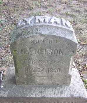 NELSON, LYMAN - Douglas County, Nebraska | LYMAN NELSON - Nebraska Gravestone Photos