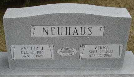 NEUHAUS, ARTHUR J. - Douglas County, Nebraska | ARTHUR J. NEUHAUS - Nebraska Gravestone Photos