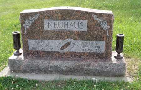 NEUHAUS, ELMER W. - Douglas County, Nebraska   ELMER W. NEUHAUS - Nebraska Gravestone Photos