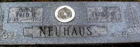 NEUHAUS, FREDA W. - Douglas County, Nebraska   FREDA W. NEUHAUS - Nebraska Gravestone Photos