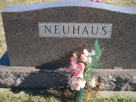 NEUHAUS, FAMILY - Douglas County, Nebraska   FAMILY NEUHAUS - Nebraska Gravestone Photos