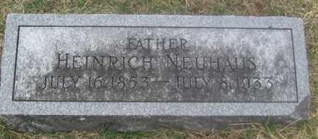 NEUHAUS, HEINRICH - Douglas County, Nebraska | HEINRICH NEUHAUS - Nebraska Gravestone Photos