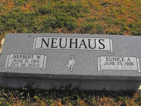 NEUHAUS, HERBERT - Douglas County, Nebraska | HERBERT NEUHAUS - Nebraska Gravestone Photos
