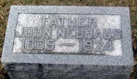 NEUHAUS, JOHN - Douglas County, Nebraska   JOHN NEUHAUS - Nebraska Gravestone Photos