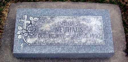 NEUHAUS, WILMA S. - Douglas County, Nebraska | WILMA S. NEUHAUS - Nebraska Gravestone Photos