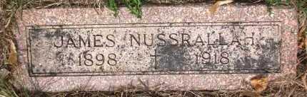 NUSSRALLAH, JAMES - Douglas County, Nebraska | JAMES NUSSRALLAH - Nebraska Gravestone Photos
