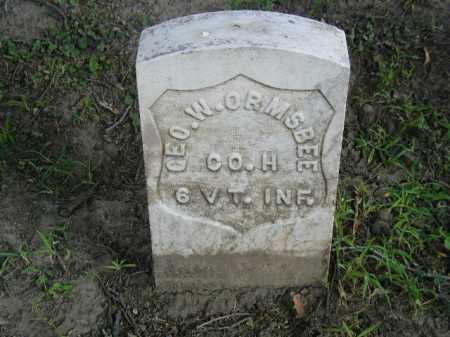 ORMSBEE, GEO. W. - Douglas County, Nebraska | GEO. W. ORMSBEE - Nebraska Gravestone Photos