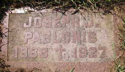 PABLONIS, JOSEPH J. - Douglas County, Nebraska | JOSEPH J. PABLONIS - Nebraska Gravestone Photos