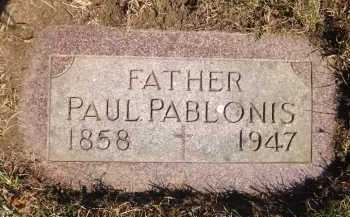 PABLONIS, PAUL - Douglas County, Nebraska | PAUL PABLONIS - Nebraska Gravestone Photos