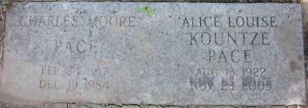PACE, CHARLES MOORE - Douglas County, Nebraska | CHARLES MOORE PACE - Nebraska Gravestone Photos