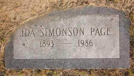 SIMONSON PAGE, IDA - Douglas County, Nebraska | IDA SIMONSON PAGE - Nebraska Gravestone Photos