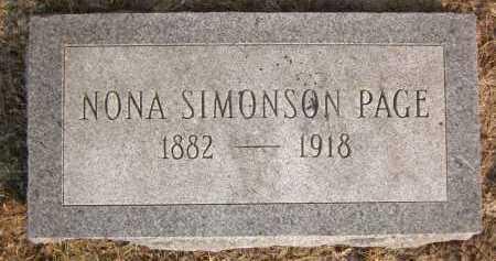 SIMONSON PAGE, NONA - Douglas County, Nebraska | NONA SIMONSON PAGE - Nebraska Gravestone Photos