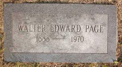 PAGE, WALTER EDWARD - Douglas County, Nebraska | WALTER EDWARD PAGE - Nebraska Gravestone Photos