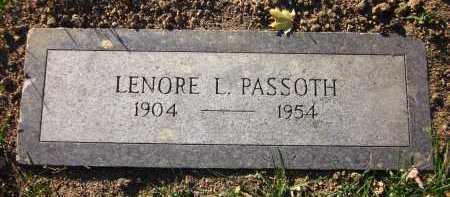 PASSOTH, LENORE L. - Douglas County, Nebraska | LENORE L. PASSOTH - Nebraska Gravestone Photos
