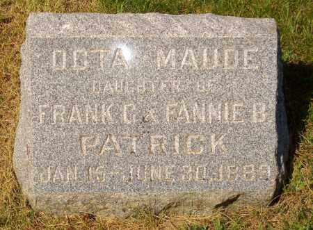 PATRICK, OCTA MAUDE - Douglas County, Nebraska | OCTA MAUDE PATRICK - Nebraska Gravestone Photos