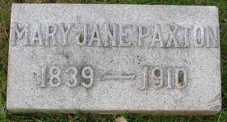 PAXTON, MARY JANE - Douglas County, Nebraska | MARY JANE PAXTON - Nebraska Gravestone Photos
