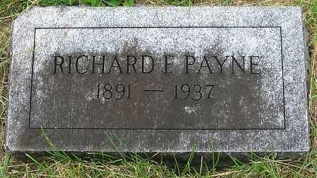 PAYNE, RICHARD F. - Douglas County, Nebraska | RICHARD F. PAYNE - Nebraska Gravestone Photos