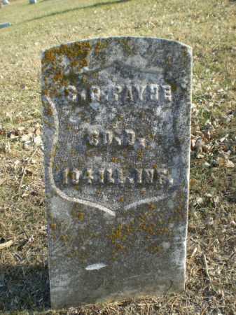 PAYNE, S. G. - Douglas County, Nebraska   S. G. PAYNE - Nebraska Gravestone Photos