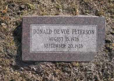 PETERSON, DONALD DEVOE - Douglas County, Nebraska | DONALD DEVOE PETERSON - Nebraska Gravestone Photos