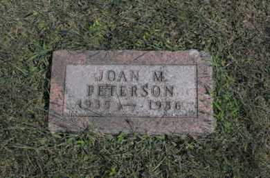 PETERSON, JOAN - Douglas County, Nebraska | JOAN PETERSON - Nebraska Gravestone Photos