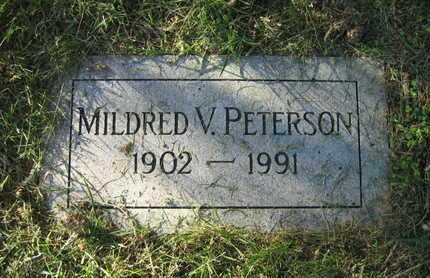 PETERSON, MILDRED VIVIAN - Douglas County, Nebraska | MILDRED VIVIAN PETERSON - Nebraska Gravestone Photos