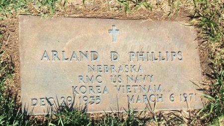 PHILLIPS, ARLAND D - Douglas County, Nebraska   ARLAND D PHILLIPS - Nebraska Gravestone Photos