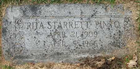 STARRETT PINTO, RITA - Douglas County, Nebraska | RITA STARRETT PINTO - Nebraska Gravestone Photos