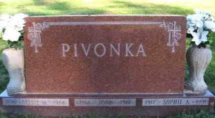 PIVONKA, SOPHIE A - Douglas County, Nebraska | SOPHIE A PIVONKA - Nebraska Gravestone Photos