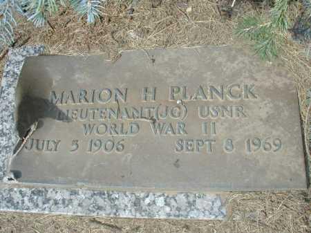PLANCK, MARION H - Douglas County, Nebraska | MARION H PLANCK - Nebraska Gravestone Photos