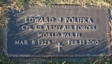 POLIFKA, EDWARD J - Douglas County, Nebraska | EDWARD J POLIFKA - Nebraska Gravestone Photos