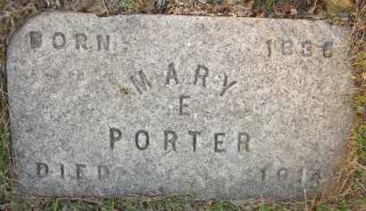 PORTER, MARY E. - Douglas County, Nebraska | MARY E. PORTER - Nebraska Gravestone Photos