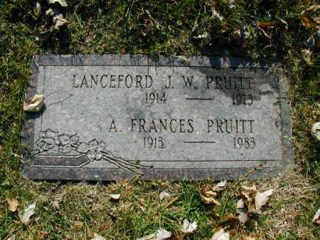 PRUITT, ALICE FRANCES - Douglas County, Nebraska | ALICE FRANCES PRUITT - Nebraska Gravestone Photos