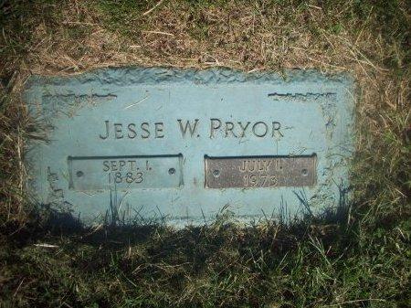 PRYOR, JESSE W - Douglas County, Nebraska   JESSE W PRYOR - Nebraska Gravestone Photos