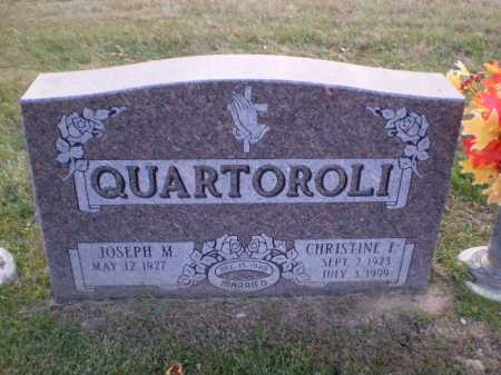 QUARTOROLI, CHRISTINE F - Douglas County, Nebraska | CHRISTINE F QUARTOROLI - Nebraska Gravestone Photos