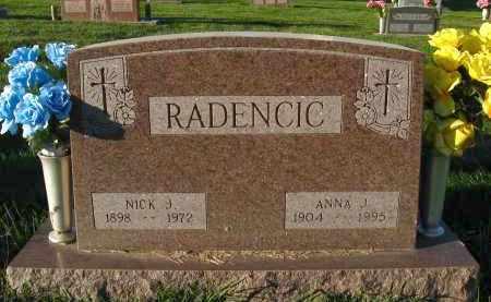 RADENCIC, ANNA J - Douglas County, Nebraska | ANNA J RADENCIC - Nebraska Gravestone Photos