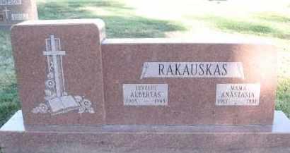 RAKAUSKAS, ANASTASIA - Douglas County, Nebraska   ANASTASIA RAKAUSKAS - Nebraska Gravestone Photos