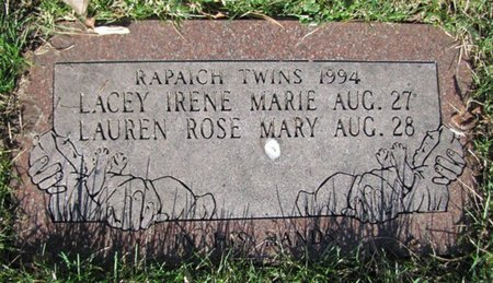 RAPAICH, LAUREN ROSE MARY - Douglas County, Nebraska | LAUREN ROSE MARY RAPAICH - Nebraska Gravestone Photos