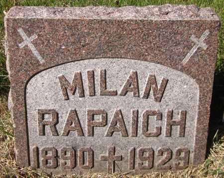 RAPAICH, MILAN - Douglas County, Nebraska   MILAN RAPAICH - Nebraska Gravestone Photos