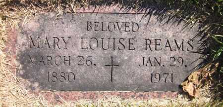 REAMS, MARY LOUISE - Douglas County, Nebraska | MARY LOUISE REAMS - Nebraska Gravestone Photos