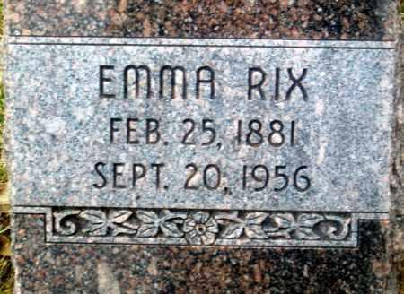 RIX, EMMA - Douglas County, Nebraska   EMMA RIX - Nebraska Gravestone Photos