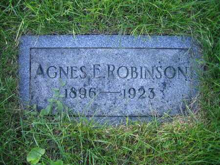 ROBINSON, AGNES E - Douglas County, Nebraska | AGNES E ROBINSON - Nebraska Gravestone Photos