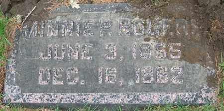 POCTOR ROGERS, MINNIE - Douglas County, Nebraska | MINNIE POCTOR ROGERS - Nebraska Gravestone Photos
