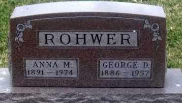 ROHWER, GEORGE D. - Douglas County, Nebraska   GEORGE D. ROHWER - Nebraska Gravestone Photos