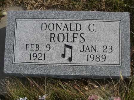 ROLFS, DONALD C. - Douglas County, Nebraska   DONALD C. ROLFS - Nebraska Gravestone Photos